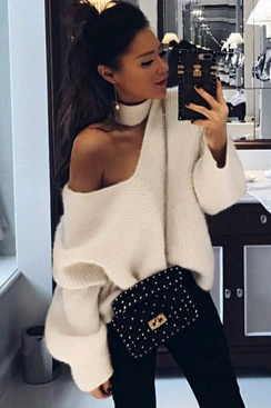 Avant Open Shoulder Sweater