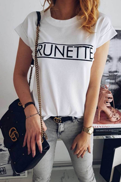 Brunette T-shirt - White