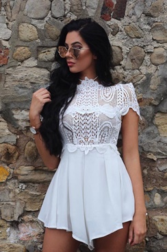 Cienna Playsuit - White