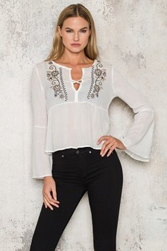 Edina Blouse - White