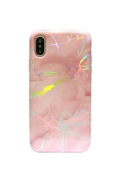 Laser Chrome Case - Pink Marble