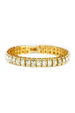 Armband med bling - Gold Ice