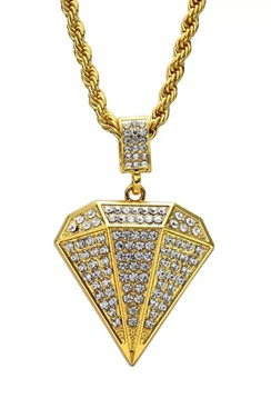 Necklace - Iced Out Diamond Gold