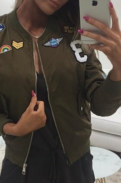Patches Jacket - Army Green