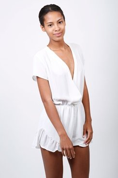 Brandy Playsuit - White