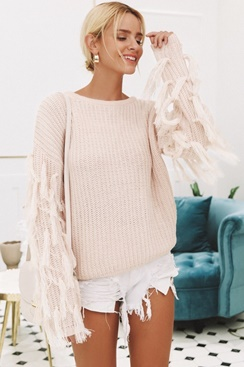 Sweet Tassel Sweater