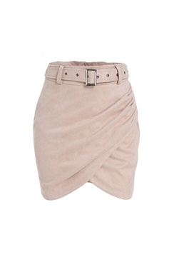Wrap Suede Skirt
