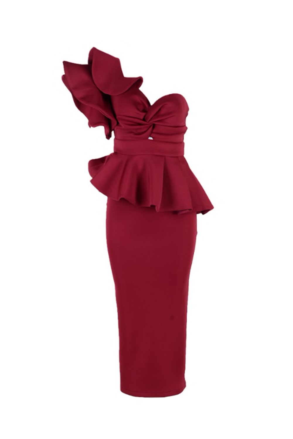 Adele Dress - Burgundy