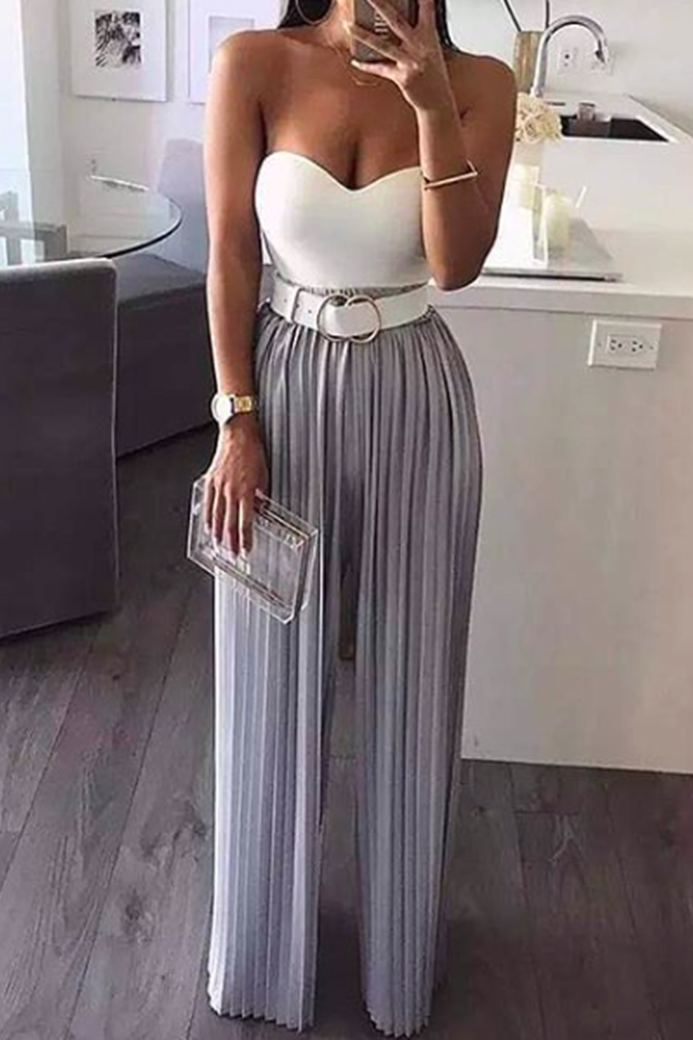 Grey high waist pants - Posh
