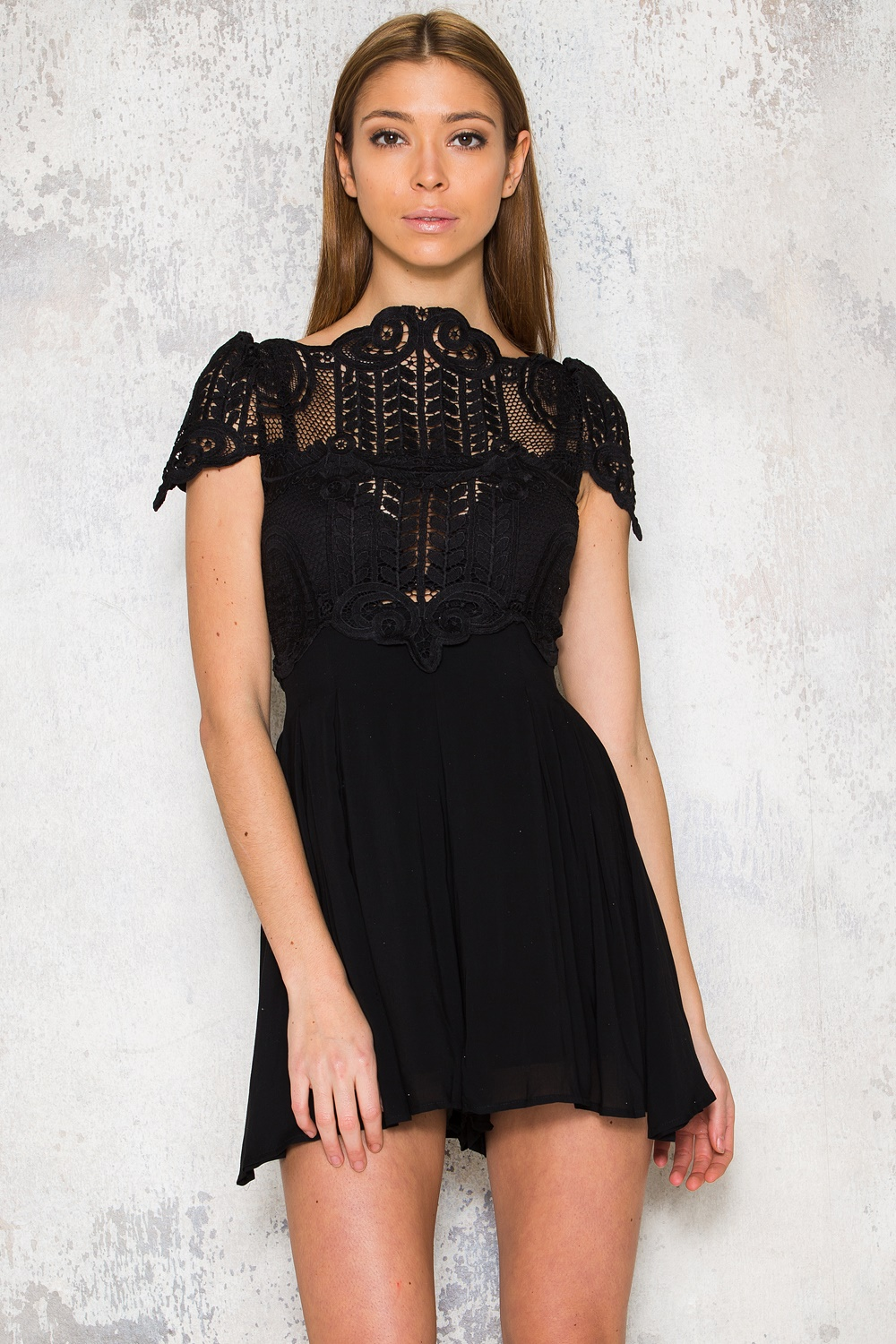Black playsuit - Cienna