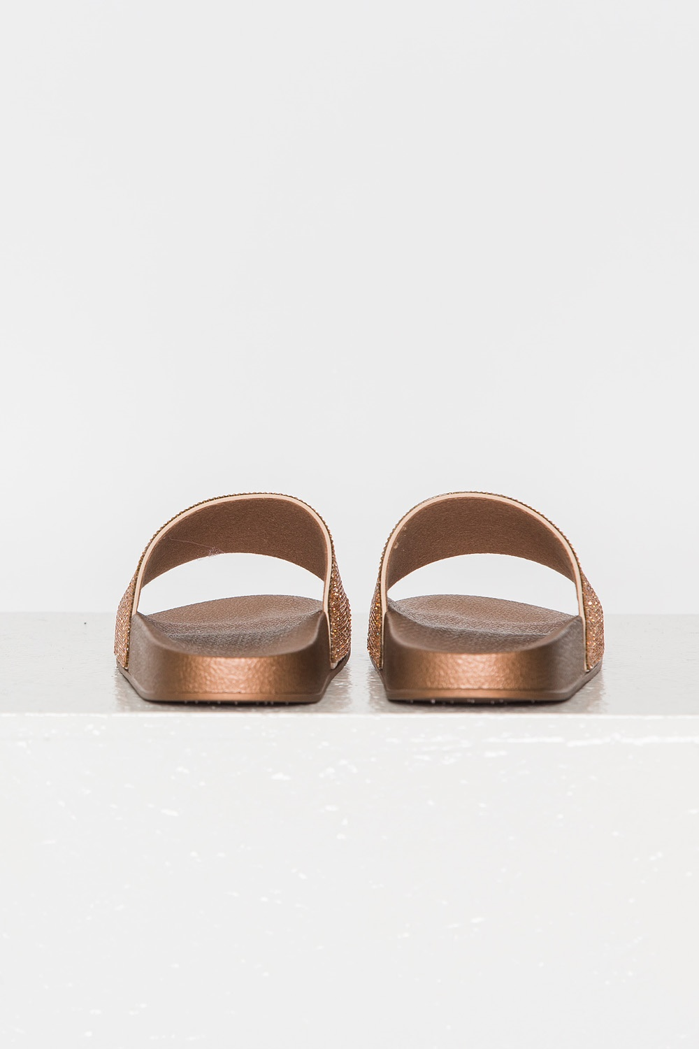 Crystal Slippers - Rose Gold
