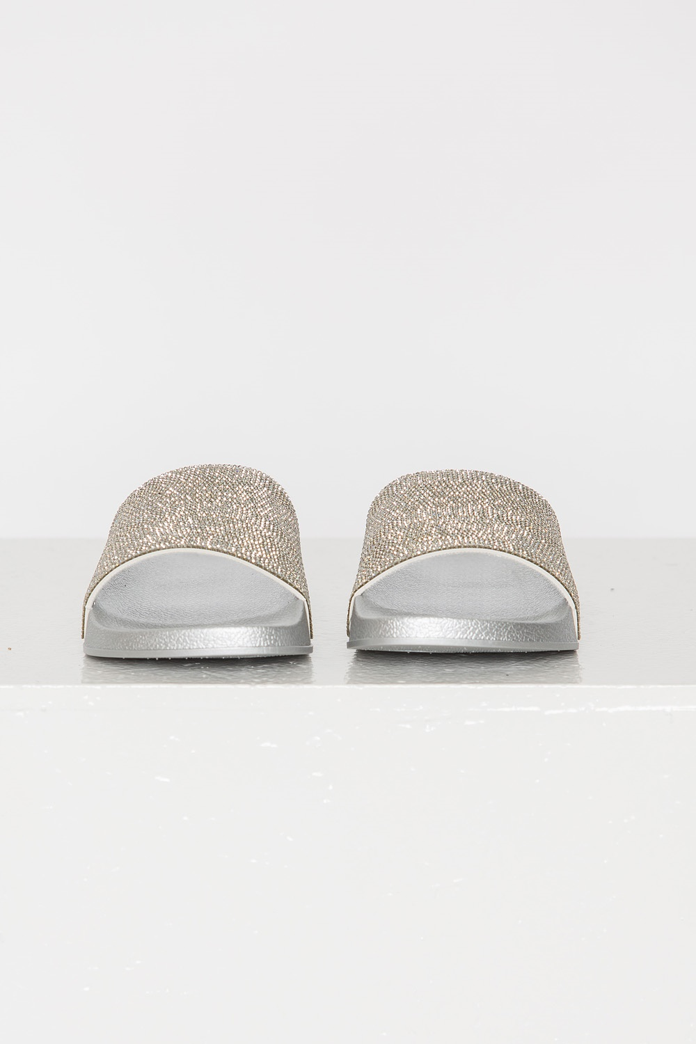 Crystal Slippers - White Silver