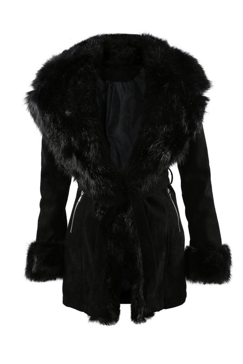 Dolce Fur Coat - Black