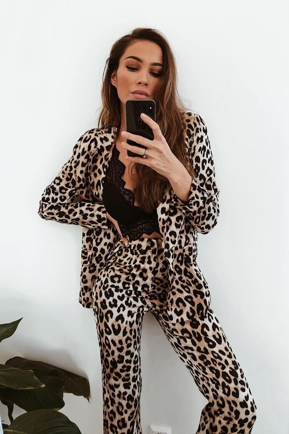 Donna Leopard Two Piece Set