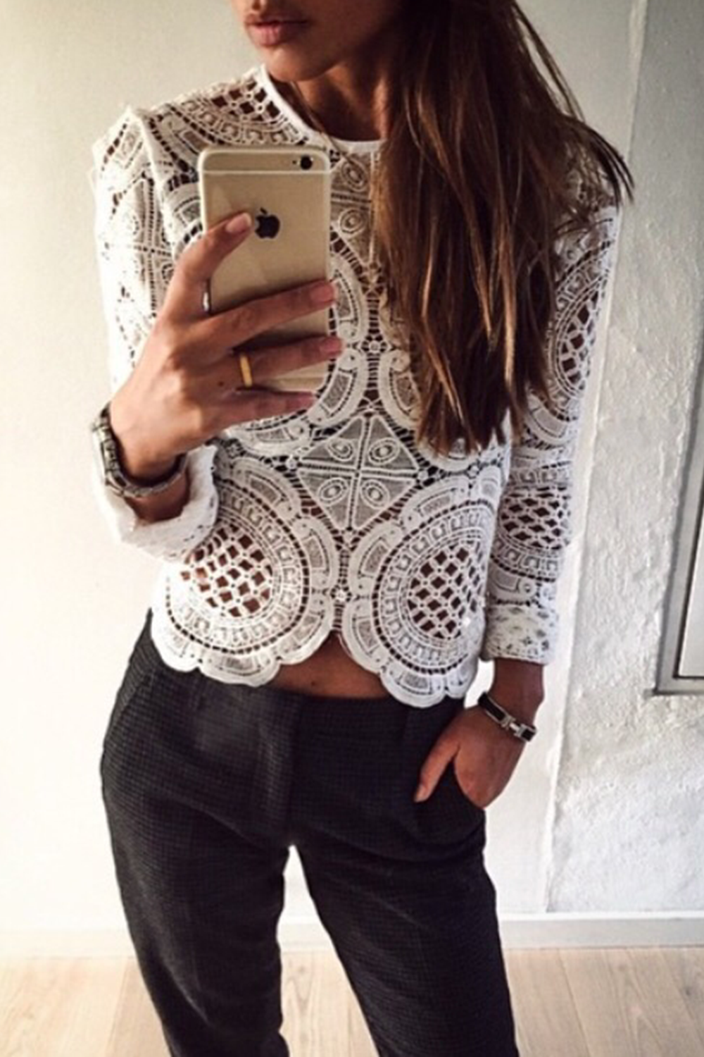 White lace top - Exotica