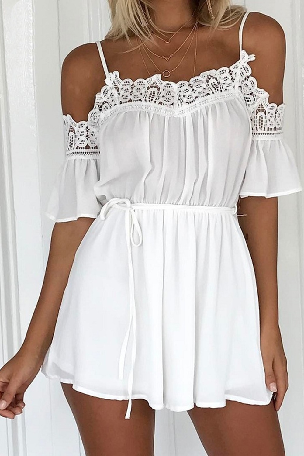 Patty Playsuit - White