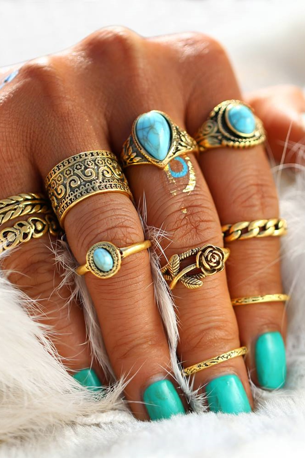 Cleopatra Ring Set - Gold