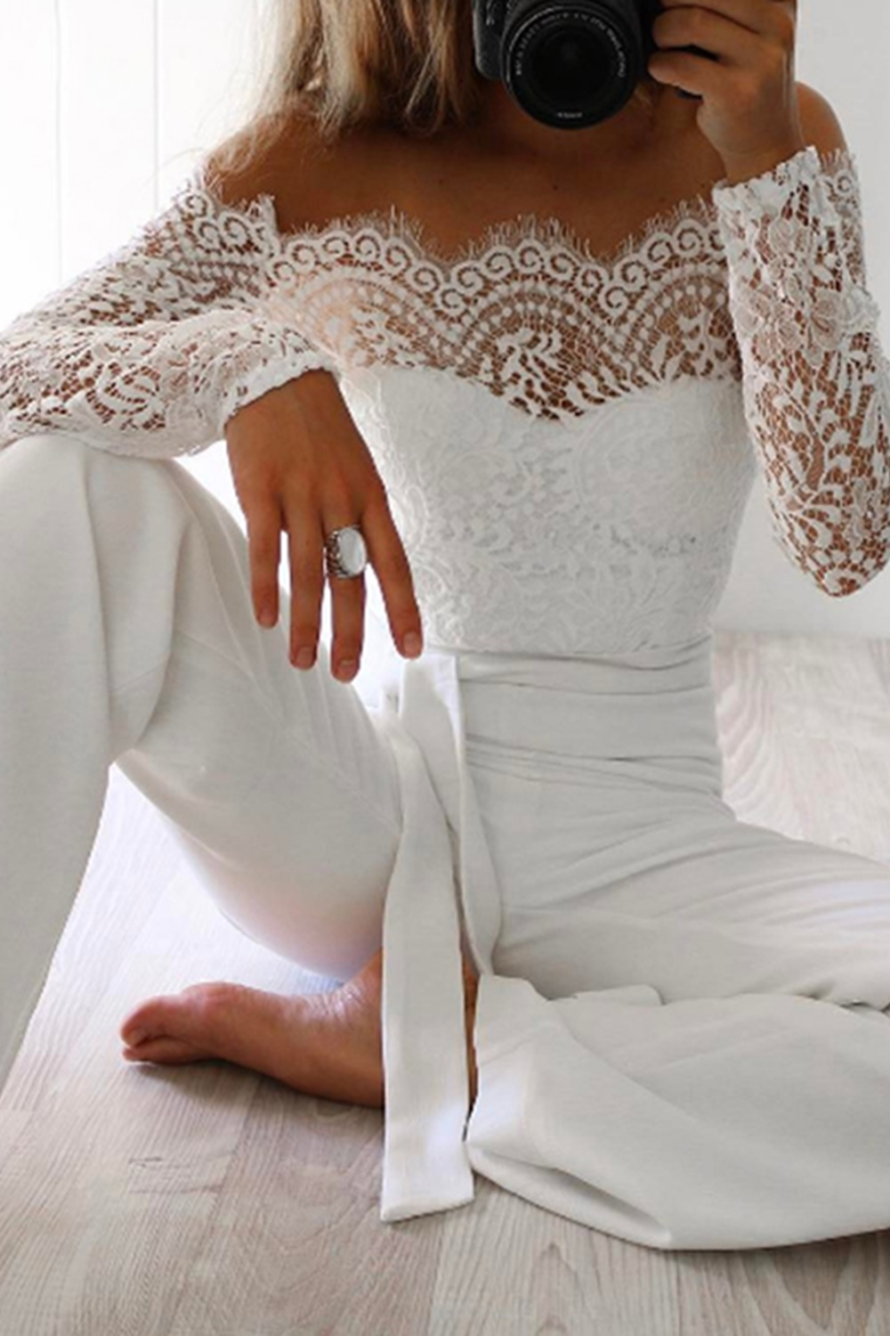 Late Night Jumpsuit - White