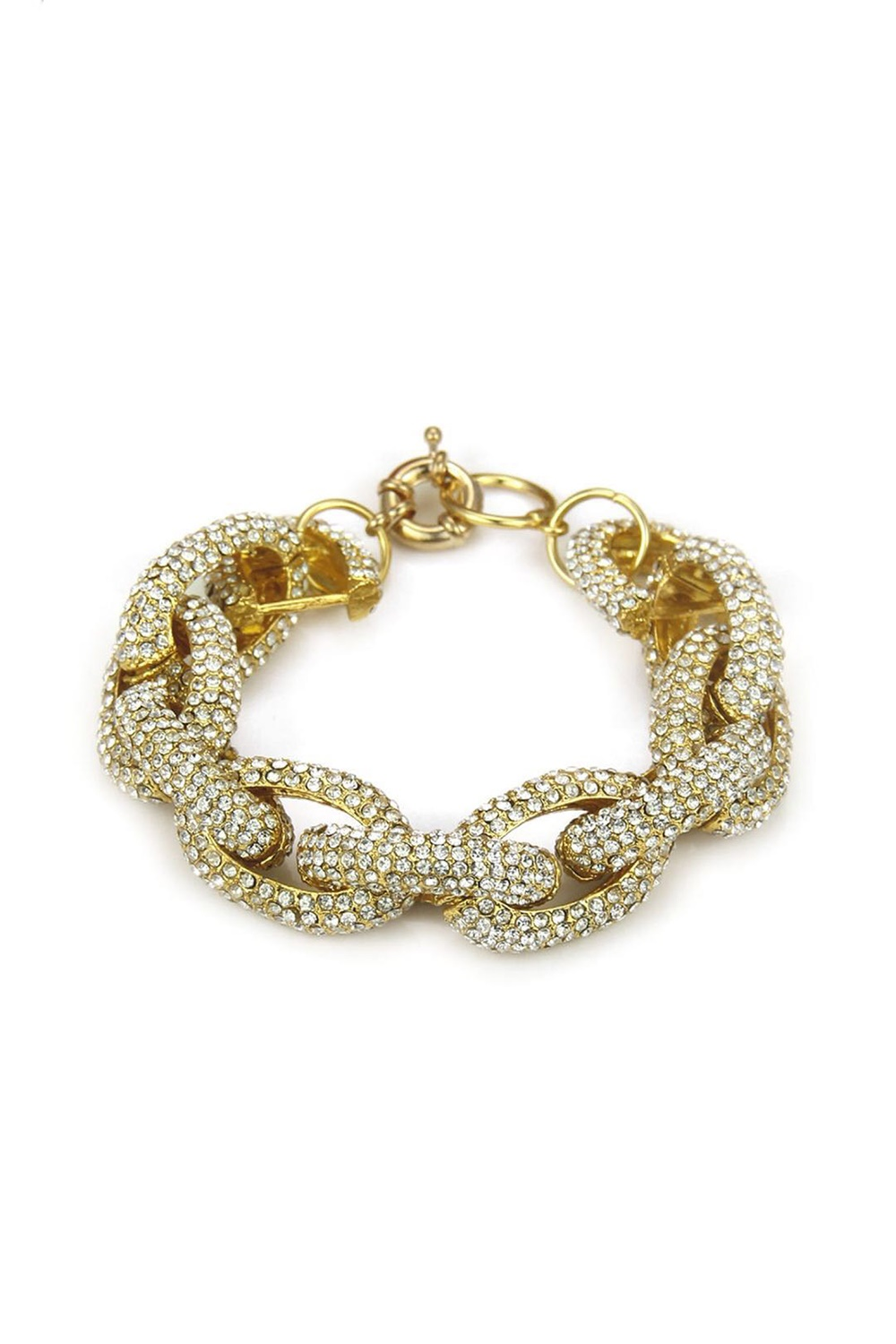 Armband med bling - Diamond Chain Link Gold
