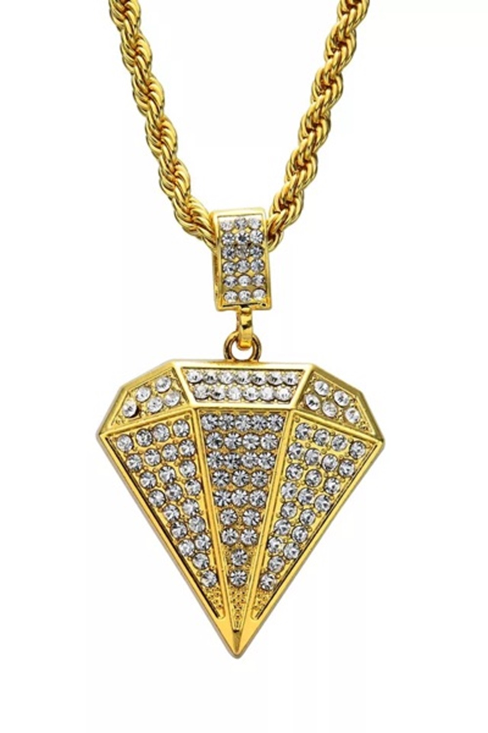 Halsband - Iced Out Diamond Gold