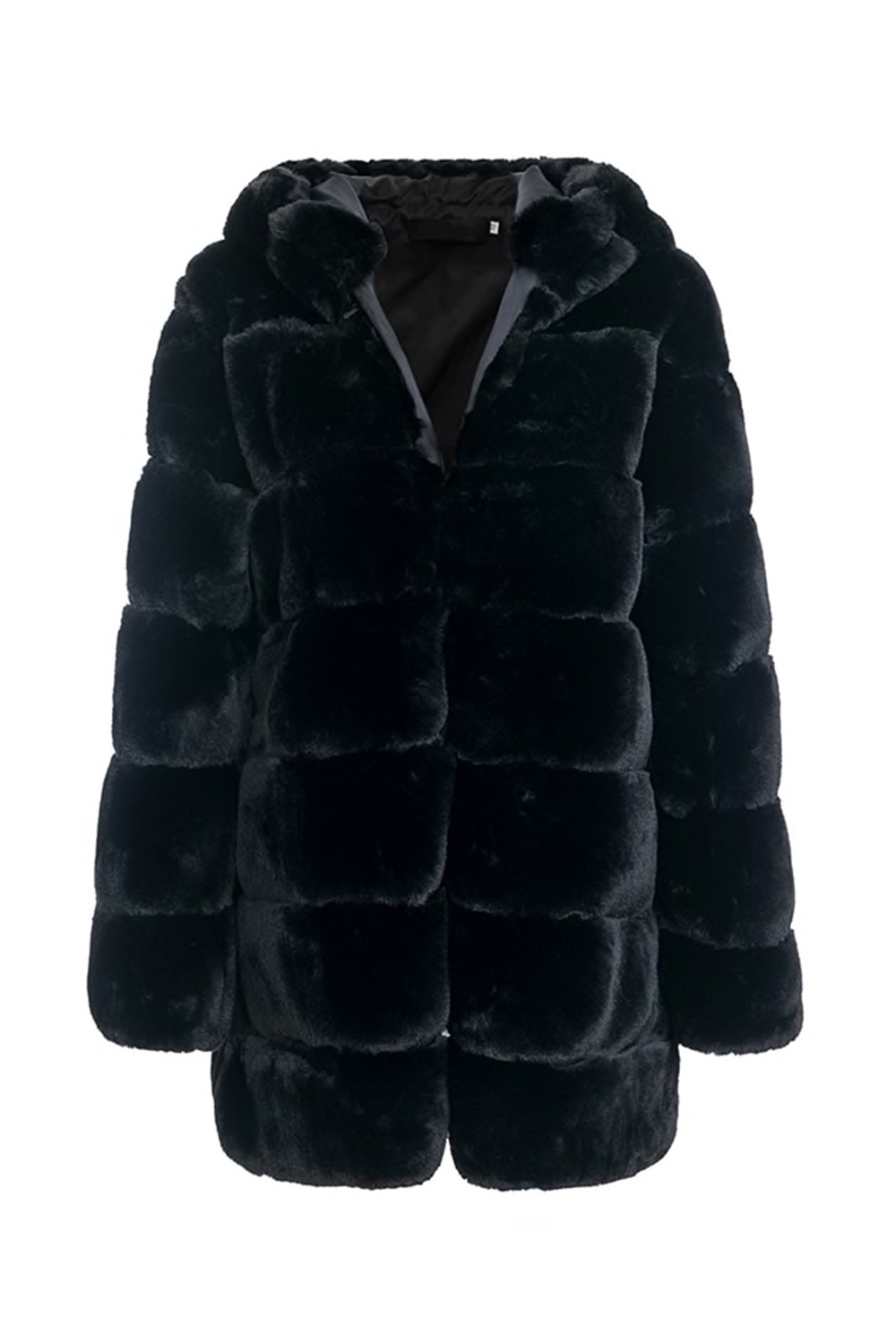 Michelle Faux Fur Coat - Black