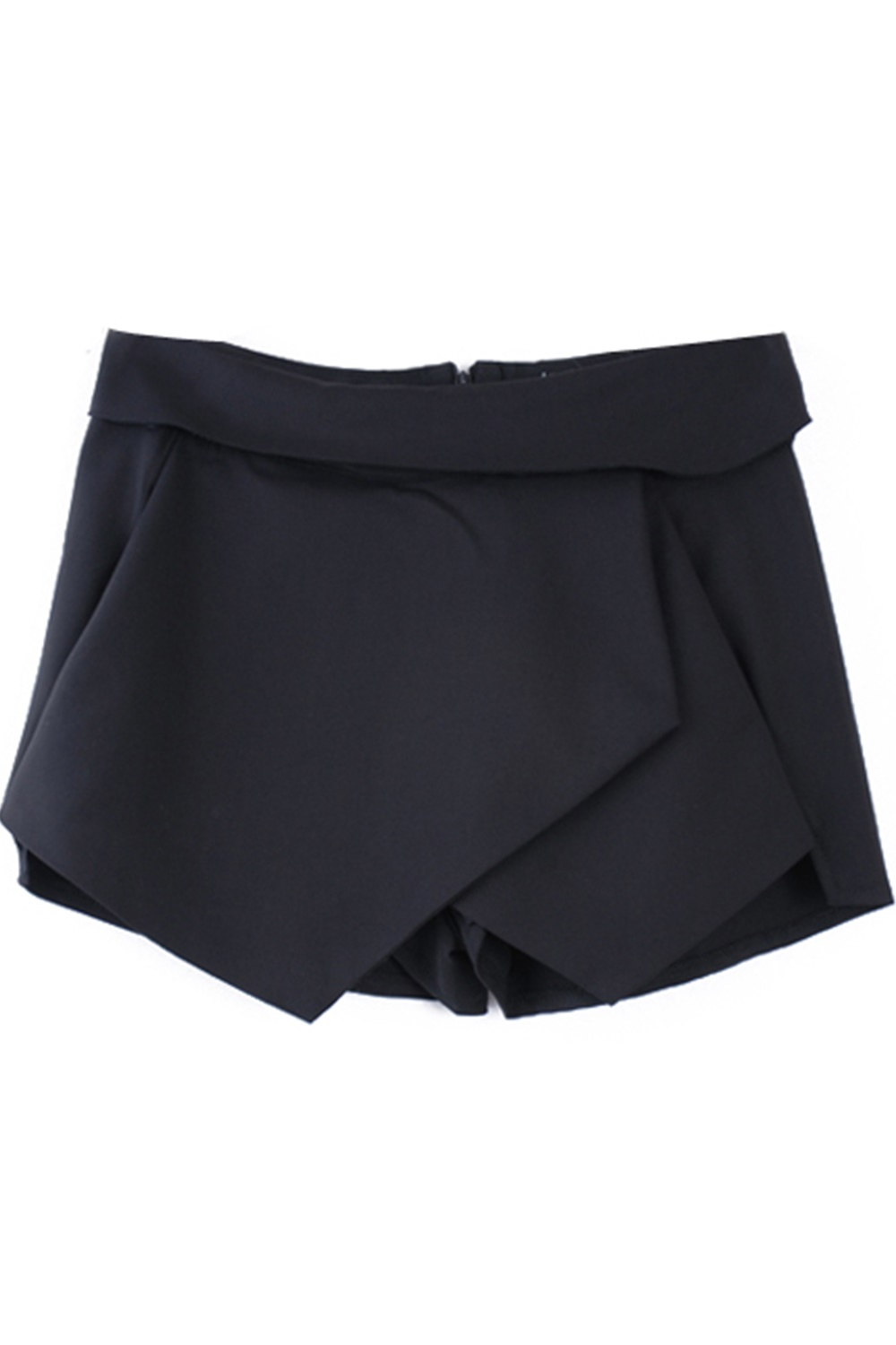 Black Asymmetric Shorts