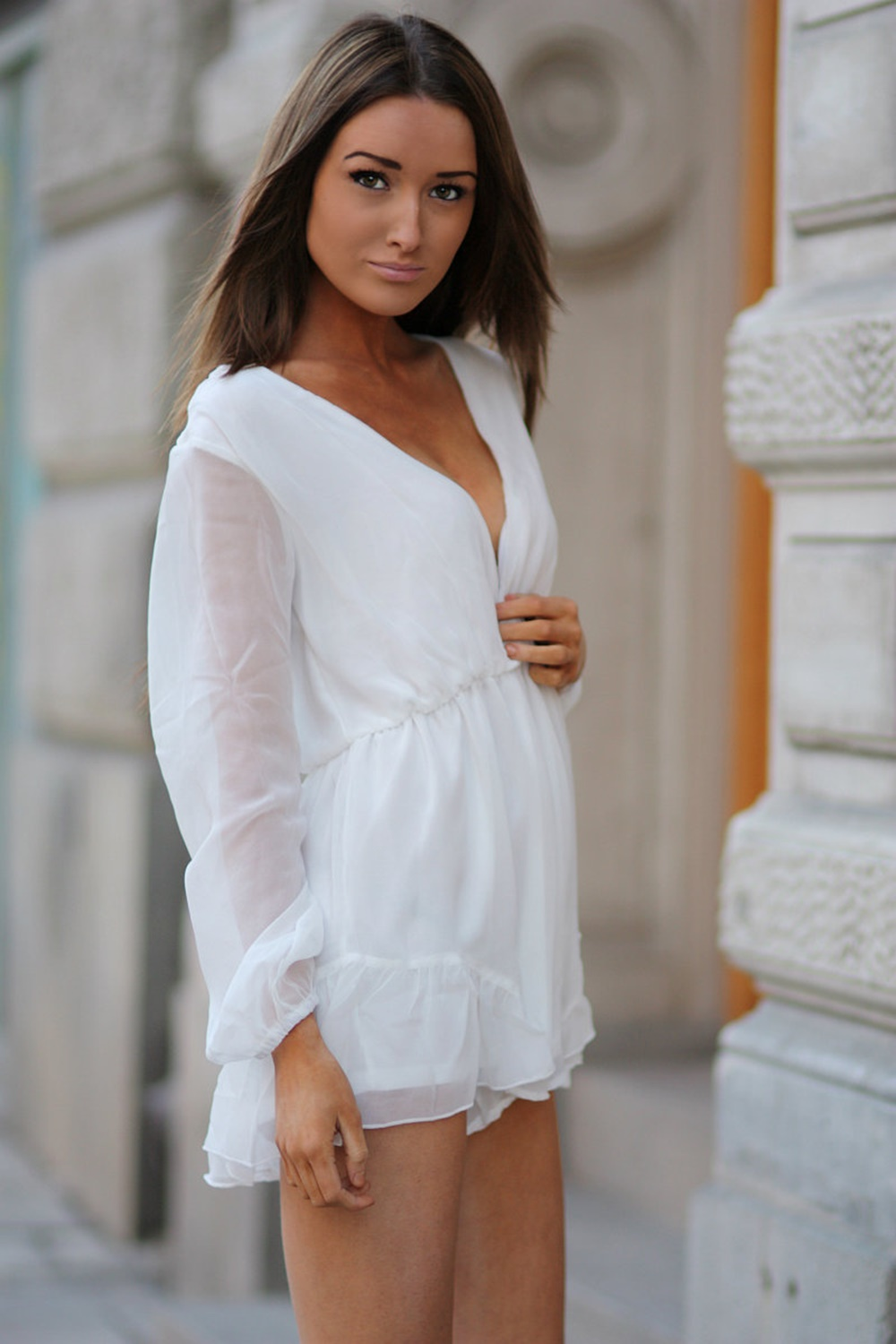 Florence Playsuit - White