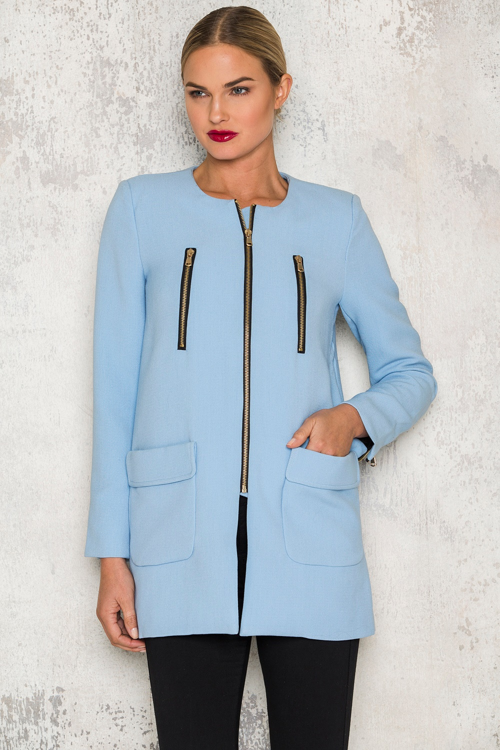 Light blue coat - Sky Blue