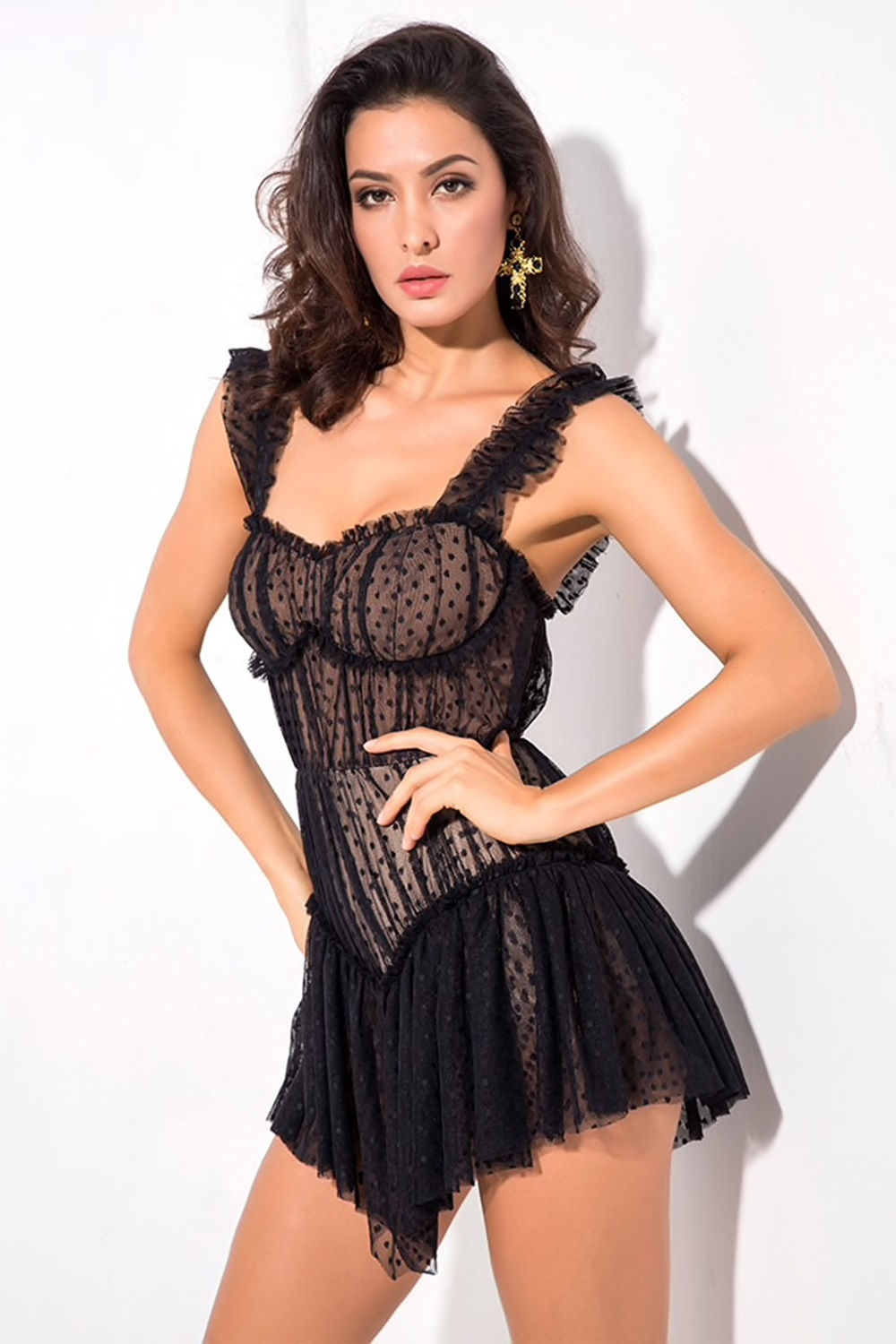 Cute black party dress - Jane