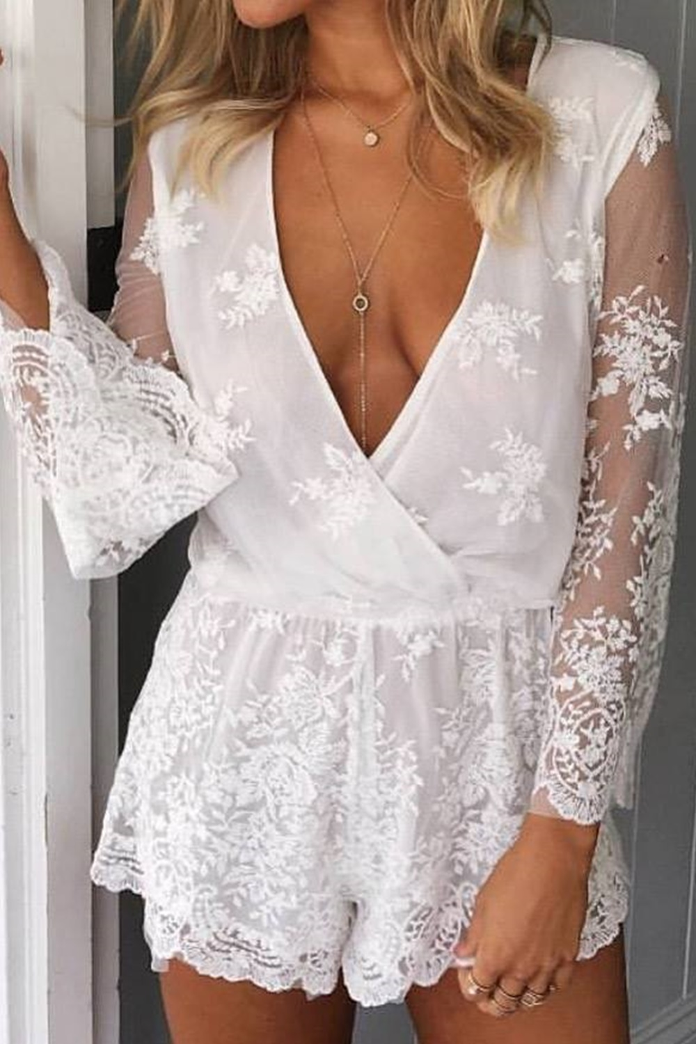 White playsuit - Valley