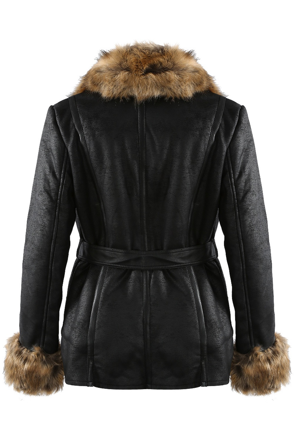 Vegan Cervina Coat - Black/Brown