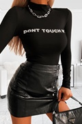 DM Bodysuit with reflective text - Don´t Touch Me