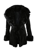 DM Kappa i fuskpäls - Black Dolce Fur Coat