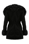 DM Dolce Fur Coat - Black