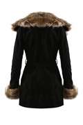 DM Kappa i fuskpäls - Black/Brown Dolce Fur Coat
