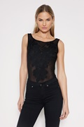 DM Embroidery Body - Black