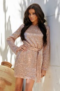 DM Exclusive gold colored sequin dress - Normani