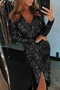 DM Exclusive sequin dress in black - Martini