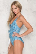DM Floral Swimsuit - Blue