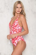 DM Floral Swimsuit - Red