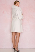 DM Long cream white virgin wool coat - New York