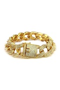DM MAN Gold diamond bracelet - Diamond Trophy