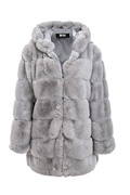DM Michelle Faux Fur Coat - Grey