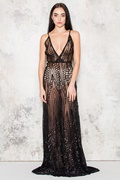 DM Silence Maxi Dress - Black