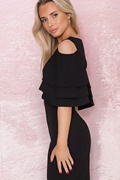 DM Black Dress With Open Shoulder - Lilith