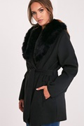 DM Black coat - Vegan Waterfall