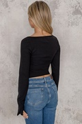 DM Basic Black zip sweater - Kylie