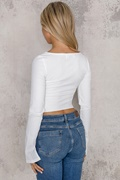 DM Basic White zip sweater - Kylie