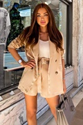 DM Beige blazer and shorts - Billie
