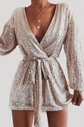 DM Exclusive sequin dress in silver - Evita